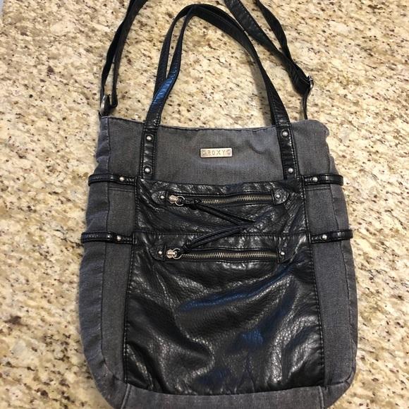 Roxy black vegan leather shoulder/ crossbody bag